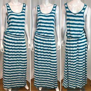 Michael Kors Striped maxi drop-waist Tank Dress